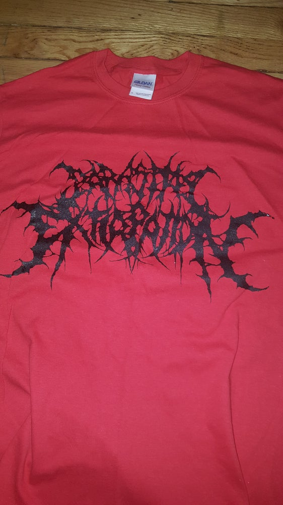 Image of PARASITIC EXTIRPATION RED T SHIRT