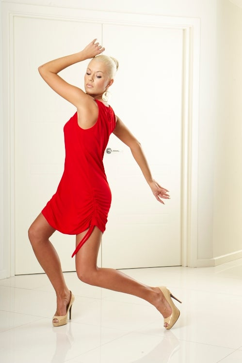 Image of Stella Dress E3190 BLACK or RED Dancewear latin ballroom