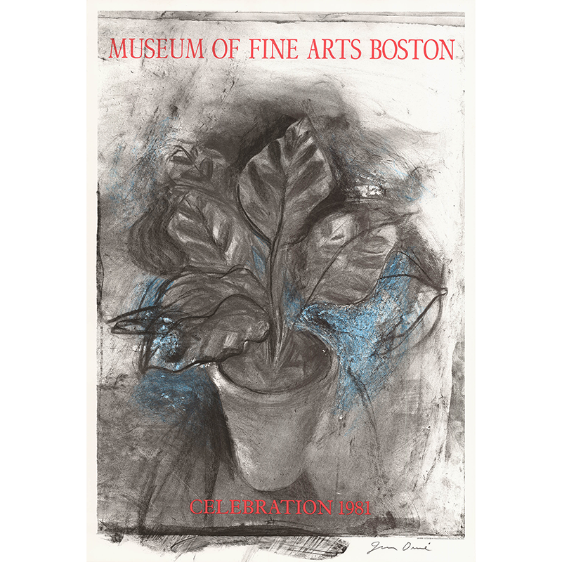 Jim Dine - MFA Boston Poster