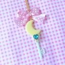 Image of Moon Key Necklace: Mint