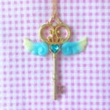 Magical Key Necklace: Blue + Yellow
