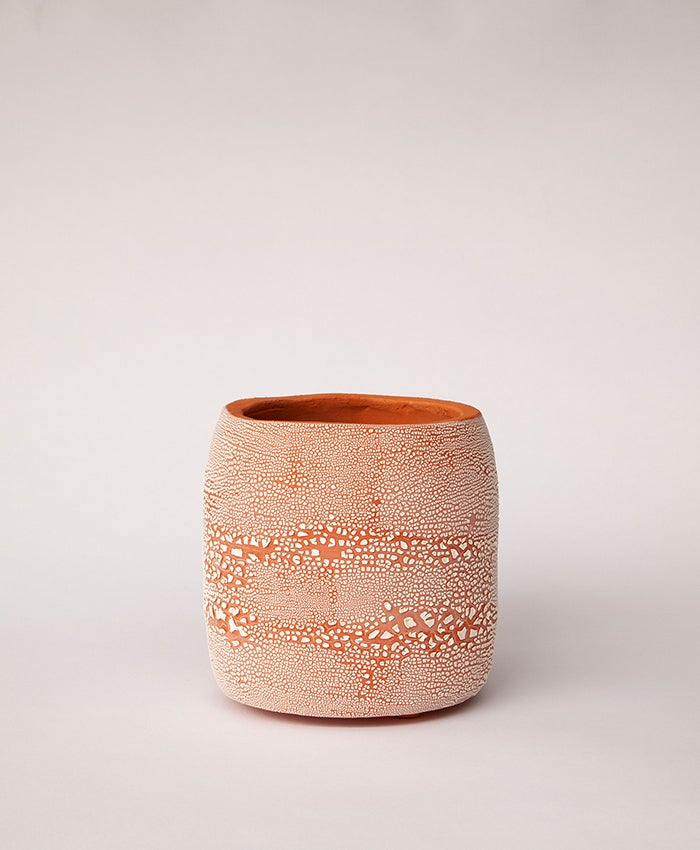 Image of Textured Terracotta Planter no 8
