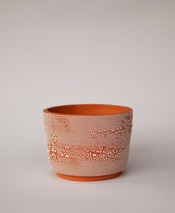 Image of Textured Terracotta Planter no 6