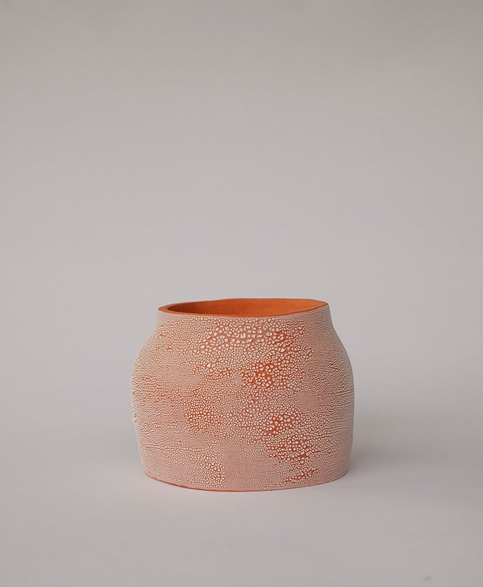 Image of Textured Terracotta Planter no 3