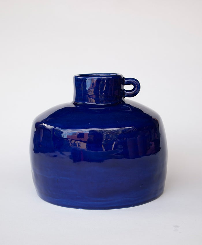 Image of Blue Ye Olde Ale Jug with Handle no 2