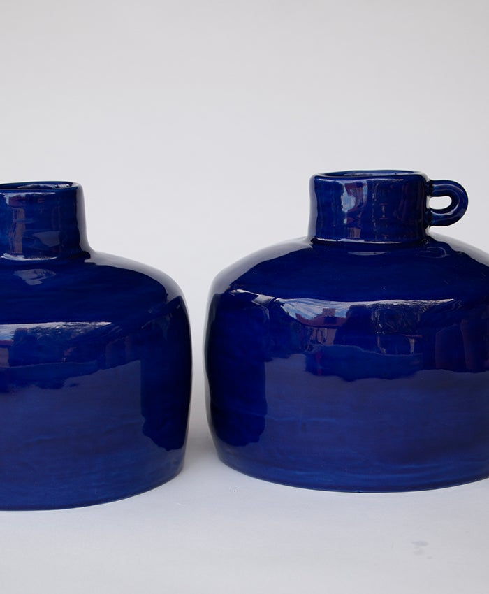 Image of Blue Ye Olde Ale Jug with Handle no 3