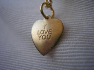 Image of i love you necklace