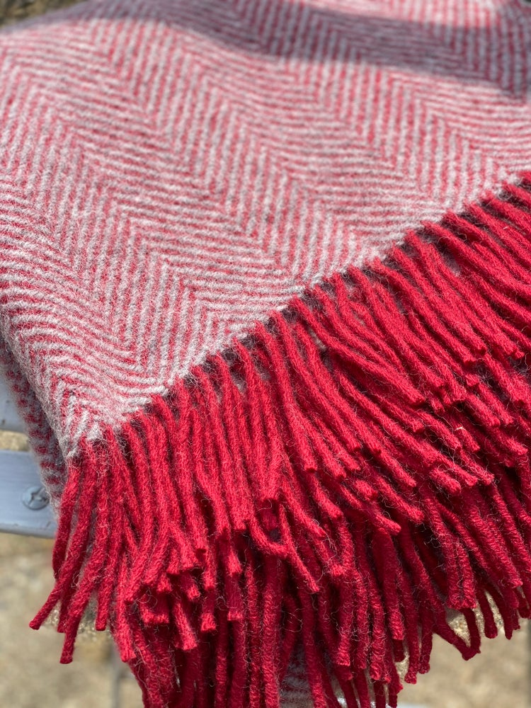 Image of Cranberry Wool Throw