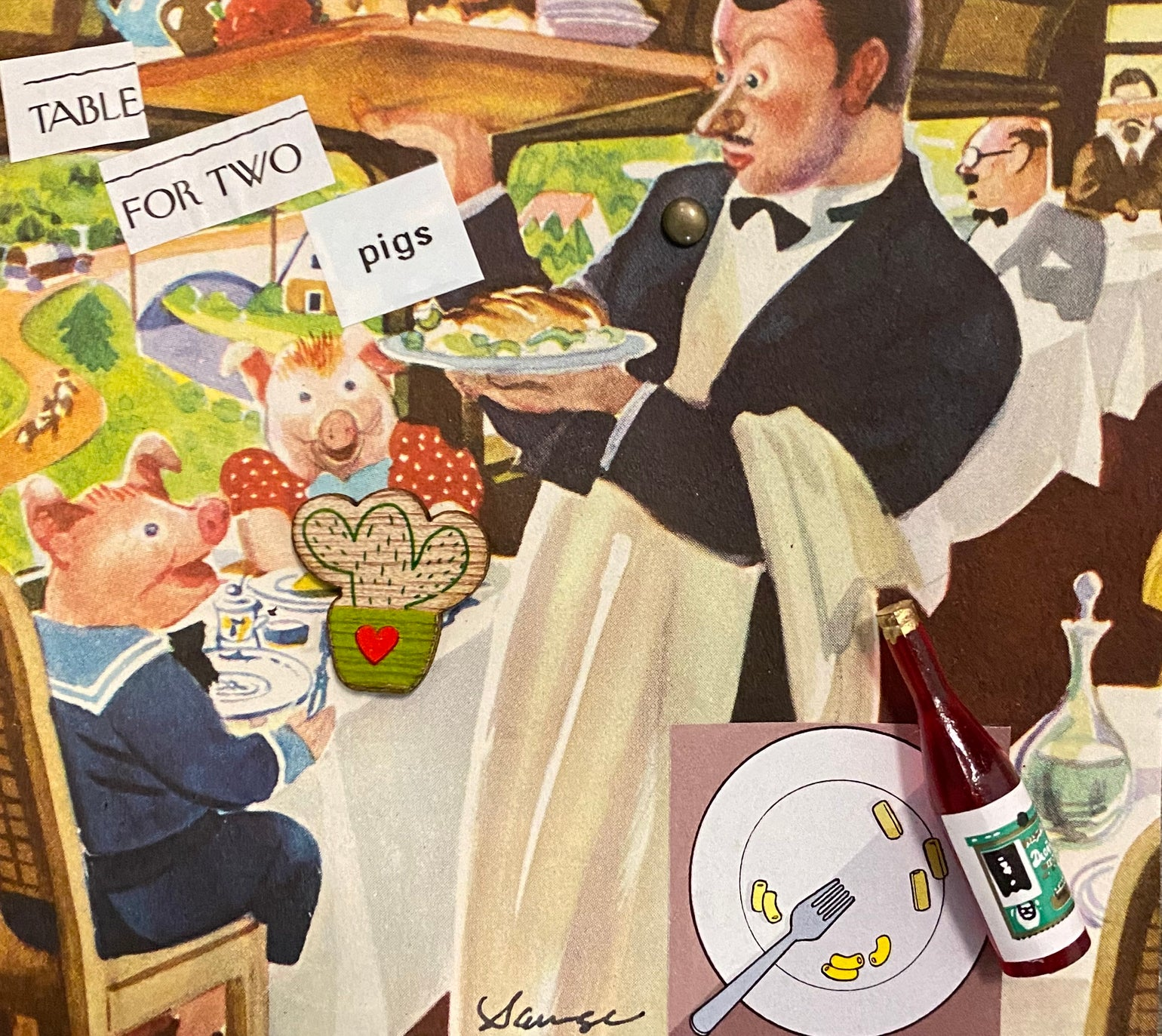 Image of Table for two pigs