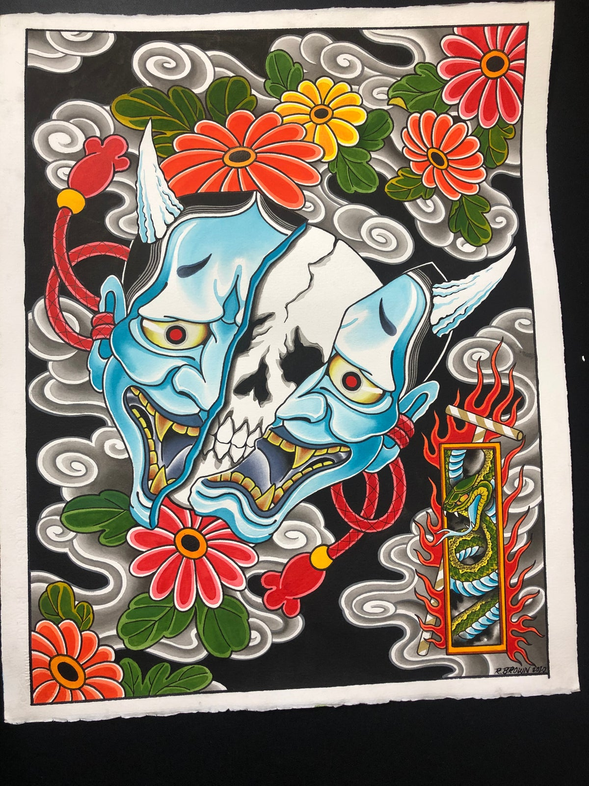 Hannya and Flowers
