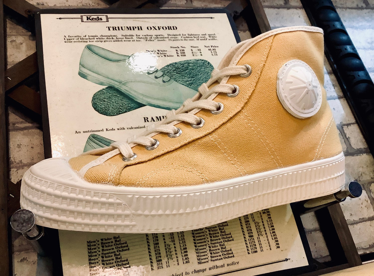 Image of VEGANCRAFT vintage style hi top sneaker shoes made in Slovakia