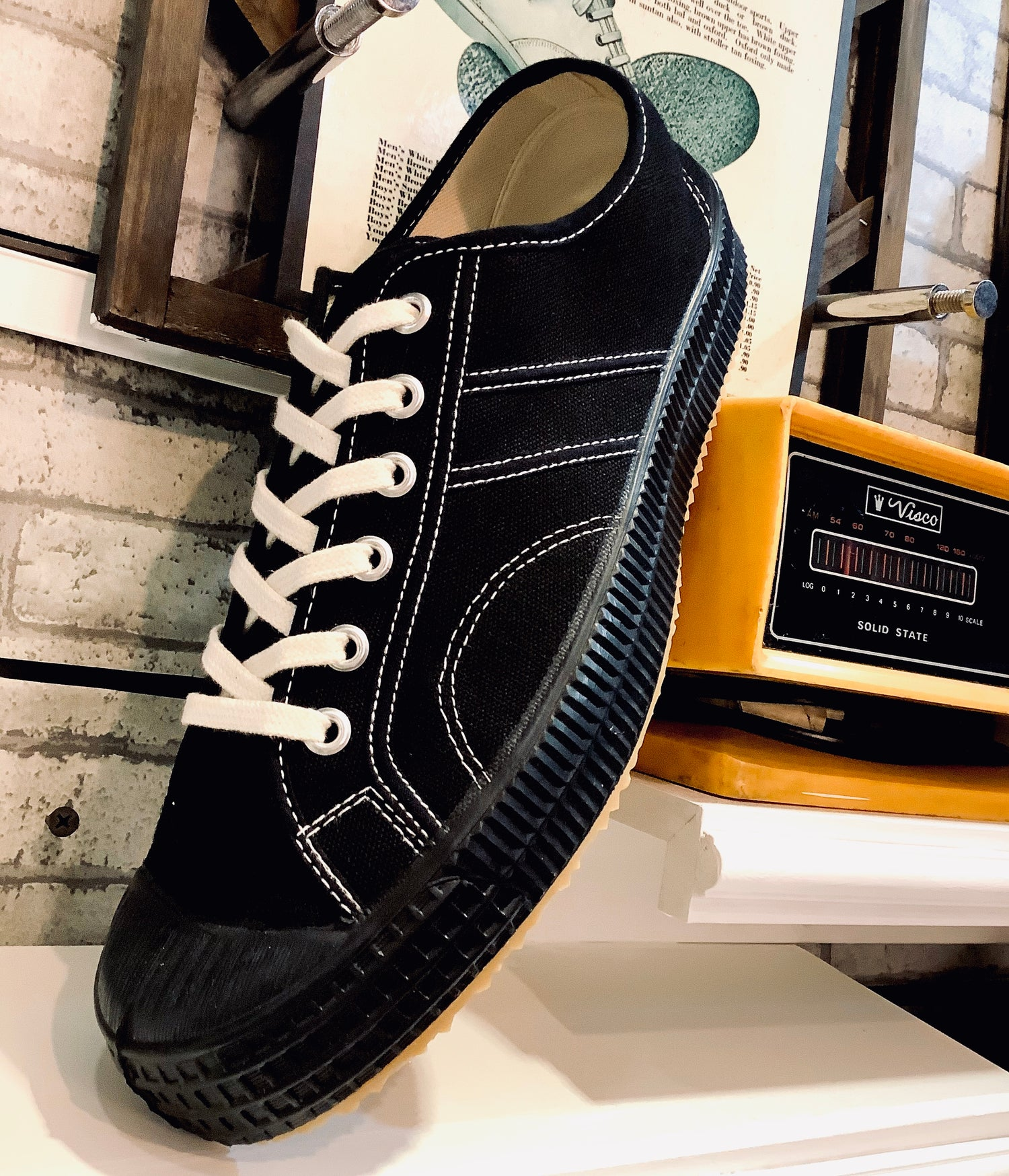 Image of VEGANCRAFT lo top canvas sneaker shoes made in Slovakia