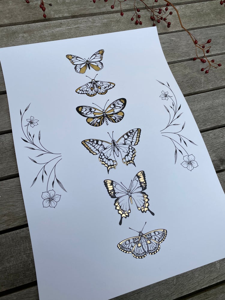 Image of A3 Butterfly Print