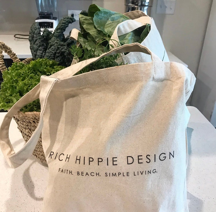 Image of Rich Hippie Design Reusable Tote - Small