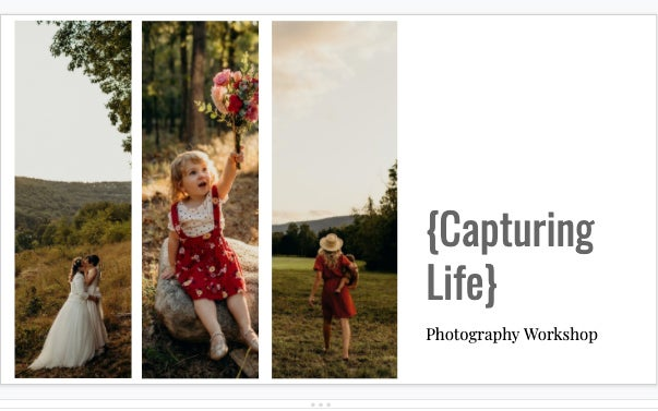 Image of ONLINE CLASS: Capturing Life Photography Workshop