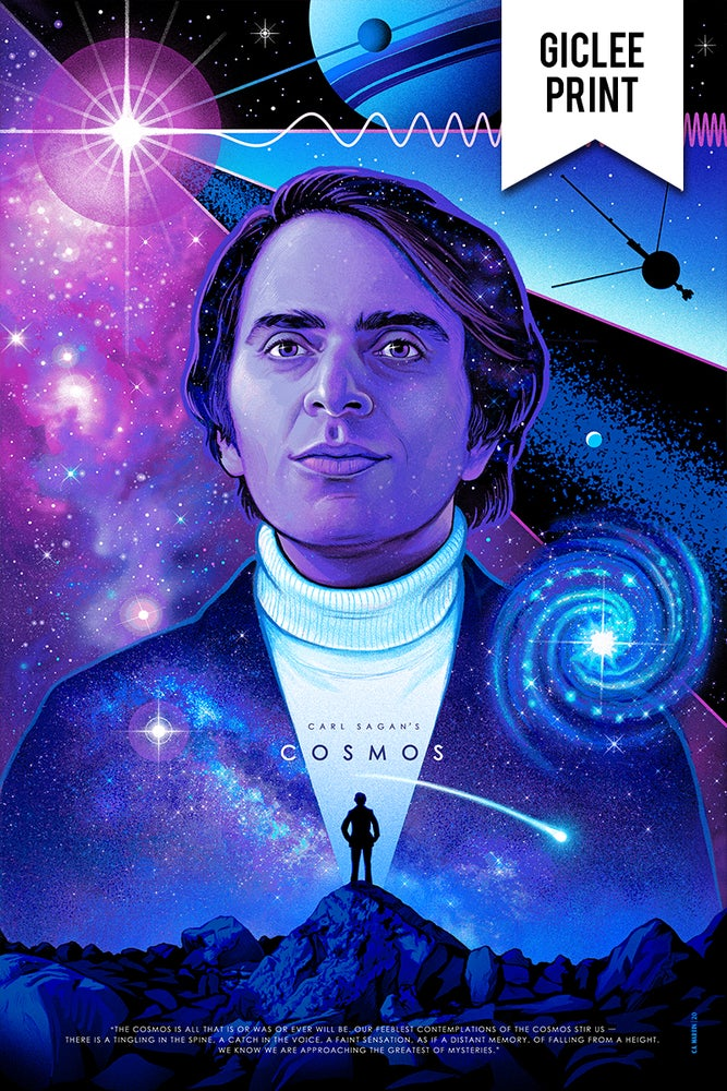 Image of CARL SAGAN'S COSMOS - LIMITED EDITION GICLEE PRINT