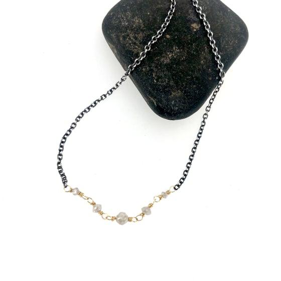Image of Grey diamond necklace