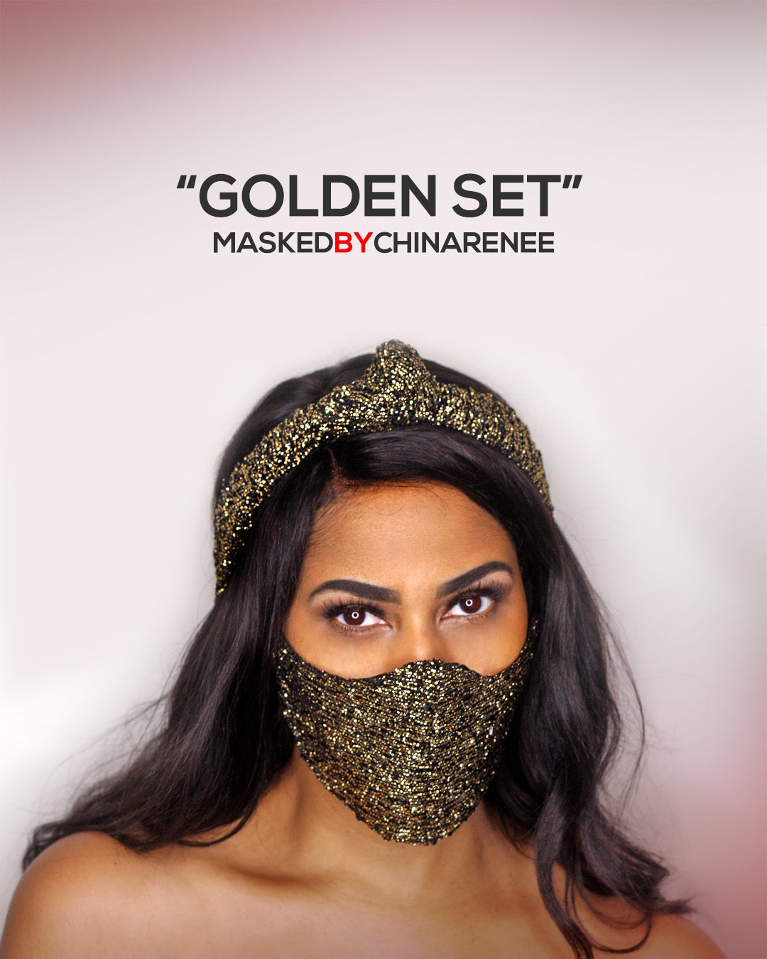 Image of GOLDEN SET Mask and Headband