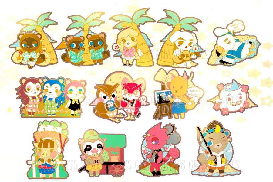 Image of Animal Crossing New Horizon Enamel Pins (SET 1)
