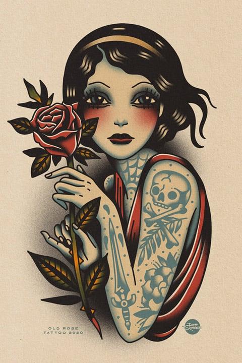 Image of Old Rose Girl - Print
