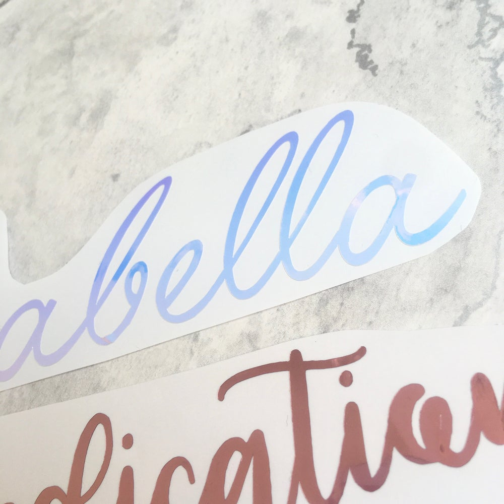 Personalised Name/Word Sticker