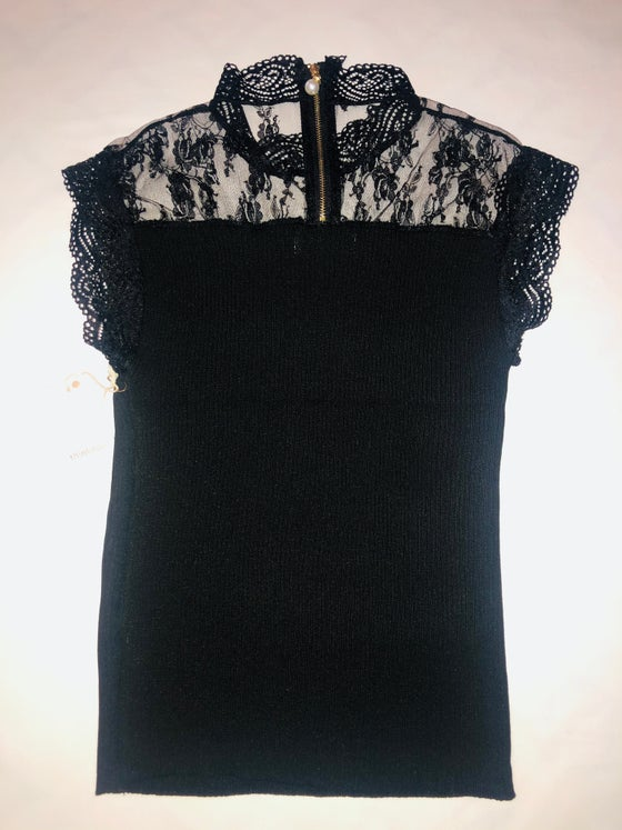 Image of Lace & Pearl Sweater top