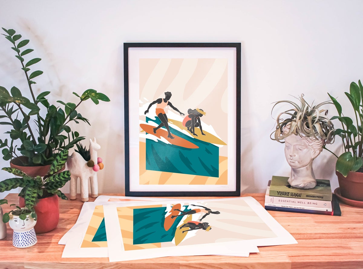 """Image of """"Slide With Me"""" - Signed Poster Print 18 x 24in"""