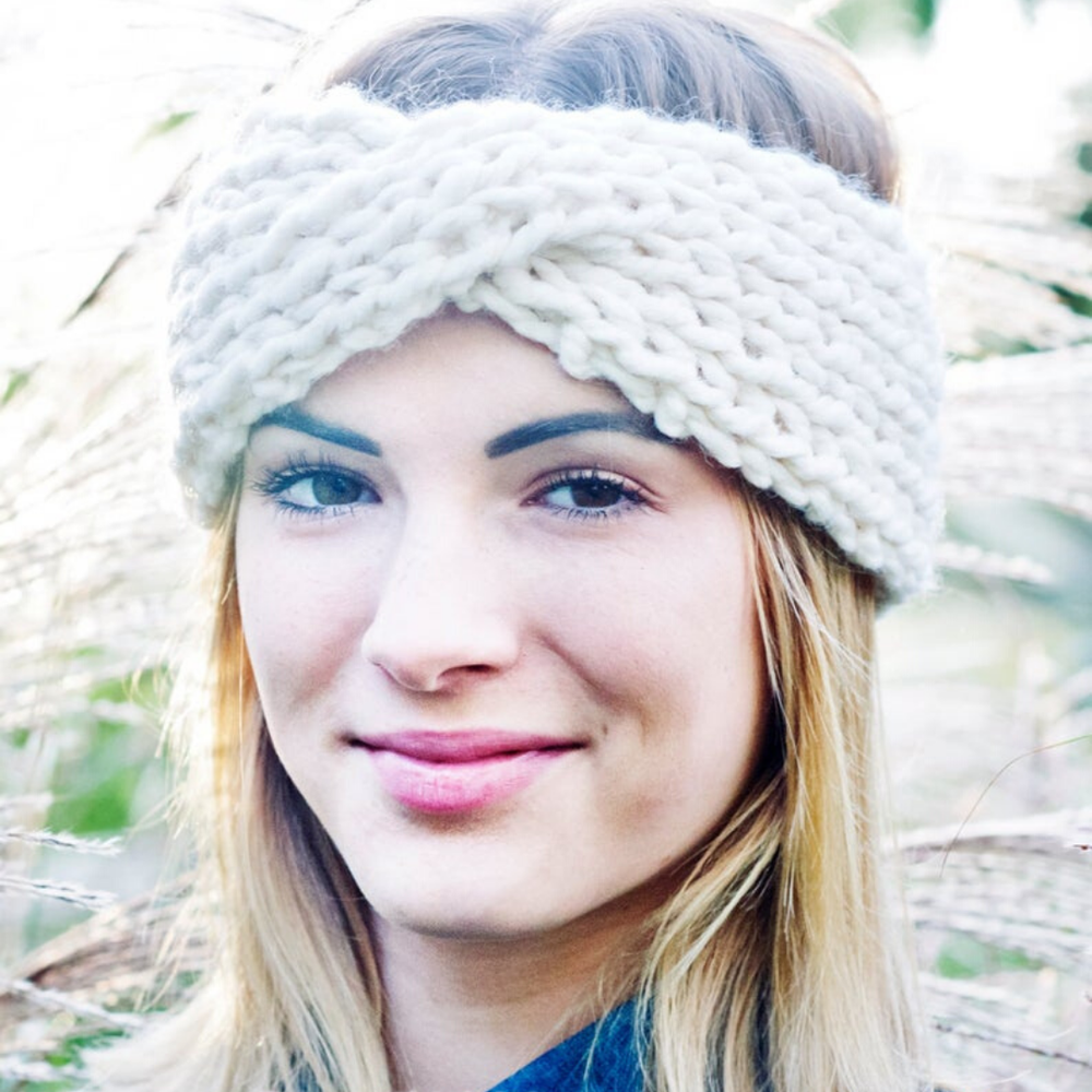 Image of Turban Twist Headband Knitting Pattern PDF Download