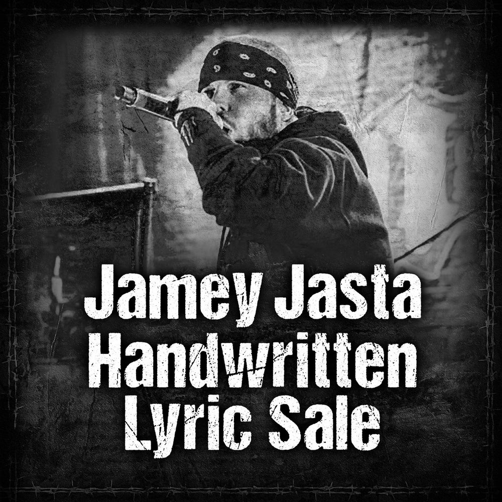 Image of HANDWRITTEN LYRICS FROM JAMEY JASTA - Sept/Oct. 2020 PRE-ORDER