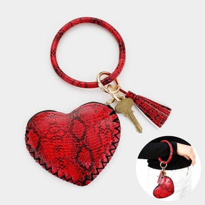 Image of Python Heart Bangle Coin Purse Keychain