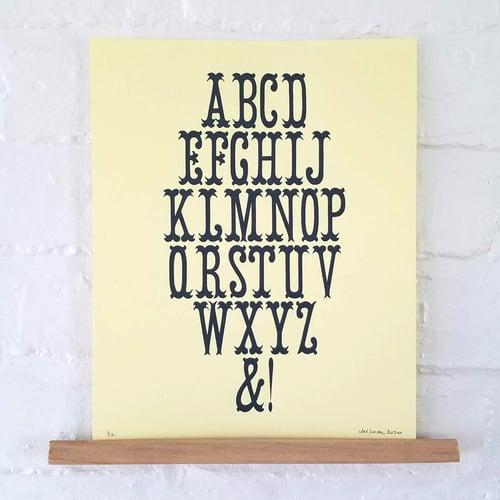 Image of 8-Line Wood Type Specimen Posters