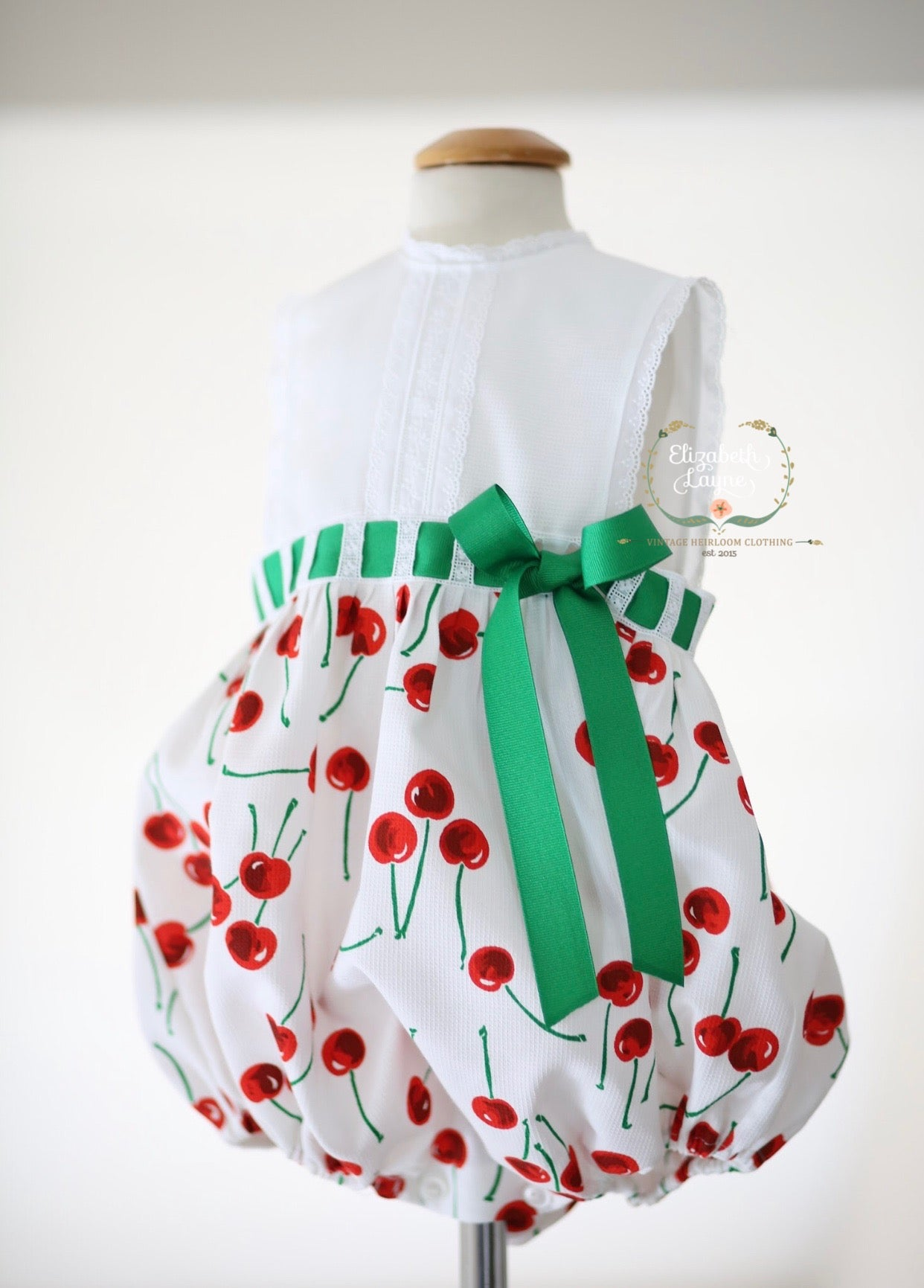 Image of Vintage Cherry Primrose Sunsuit