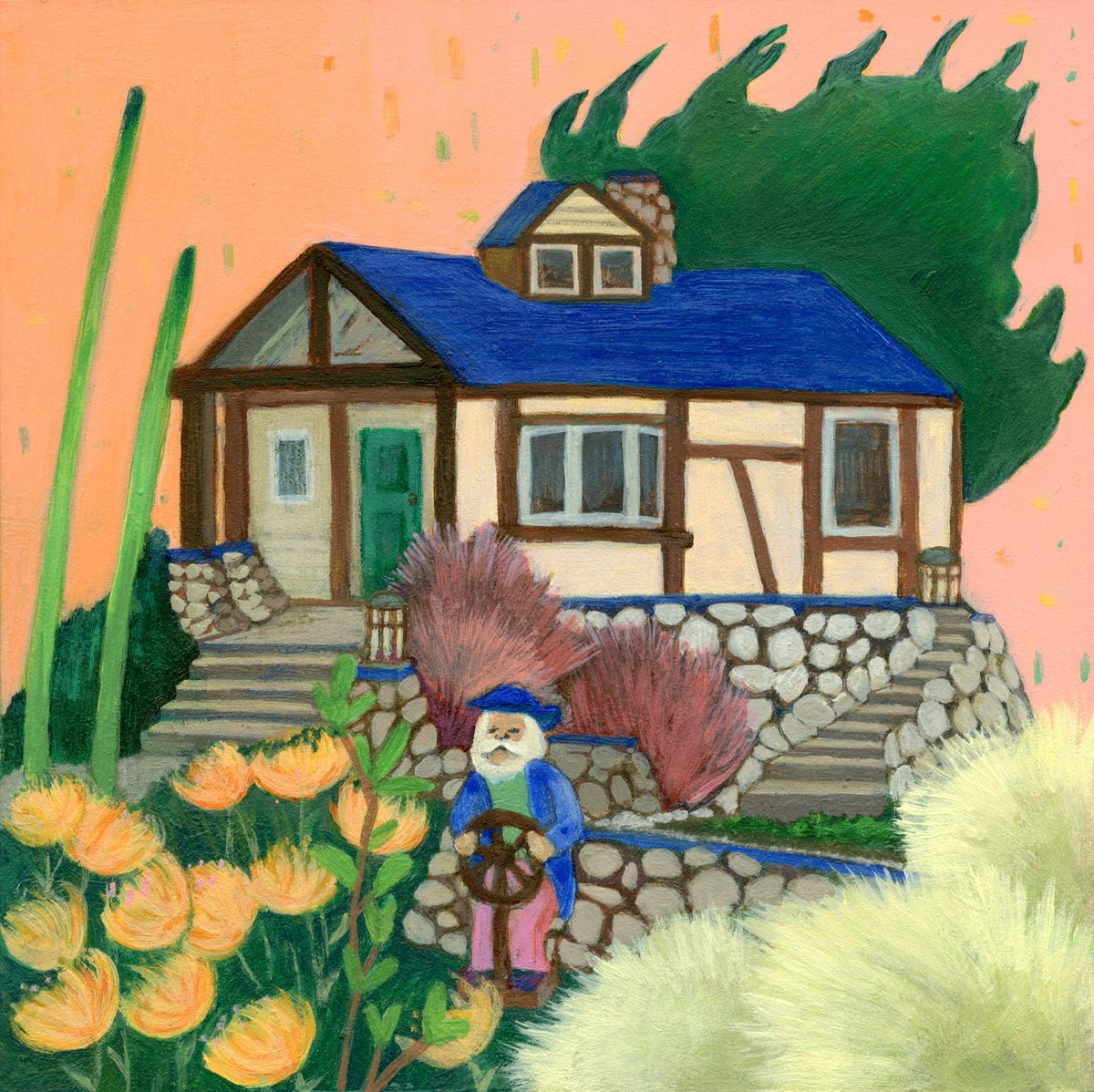Image of Stay Home 3 Painting