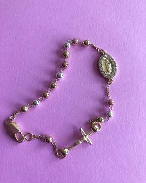 Diamante Virgencita Tricolor Bracelet
