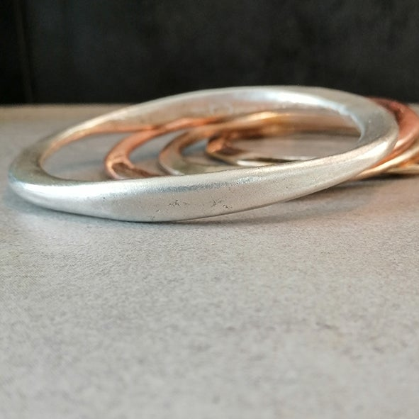 Image of Solid sterling silver bangle- one of a kind