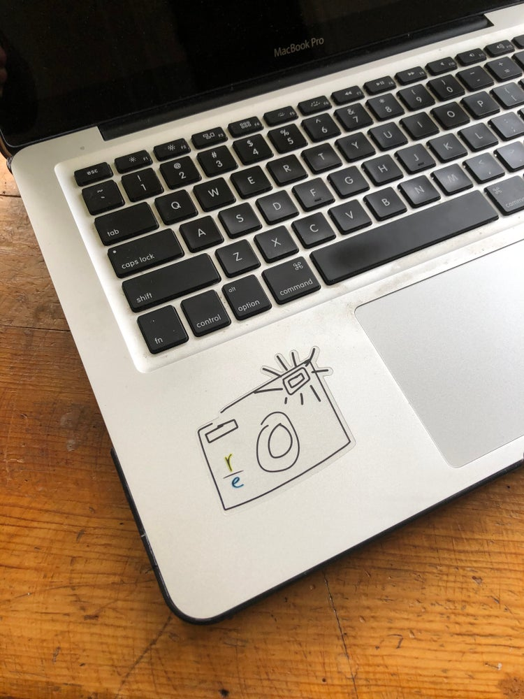 Image of Camera Doodle Logo Sticker