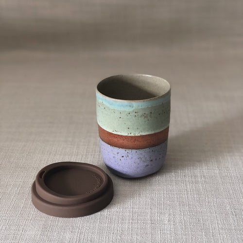 Image of DUSK PURPLE/GREEN TALL TRAVEL CUP