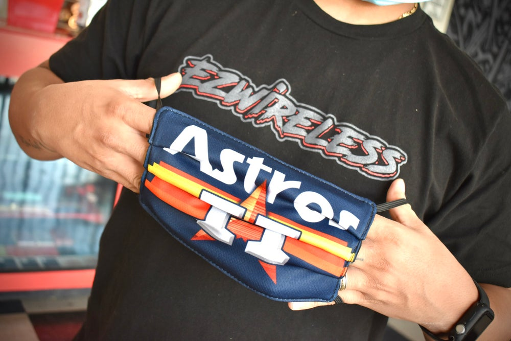 Image of Astros Face Mask