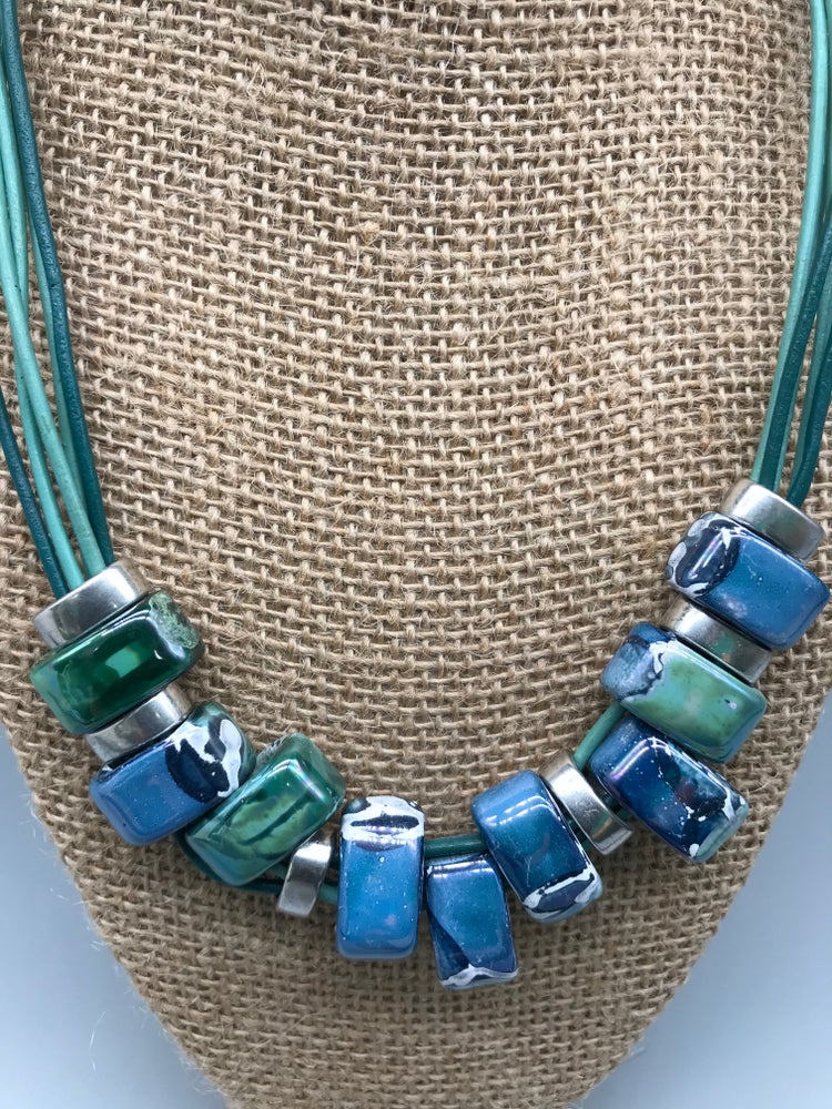 Image of Blues and Greens Necklace