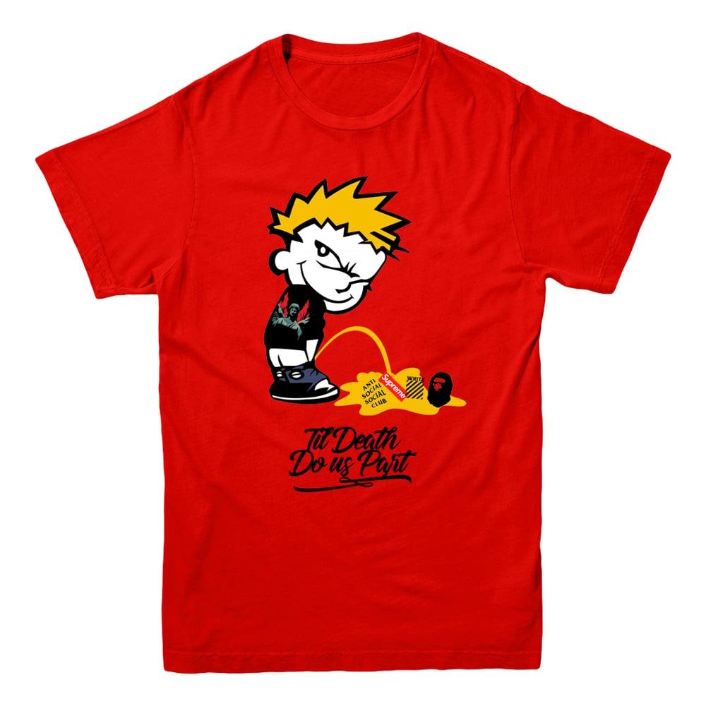 Image of Calvin Til Death Logo Tee