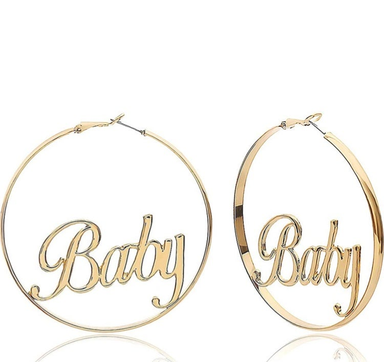 Gold Baby Hoops