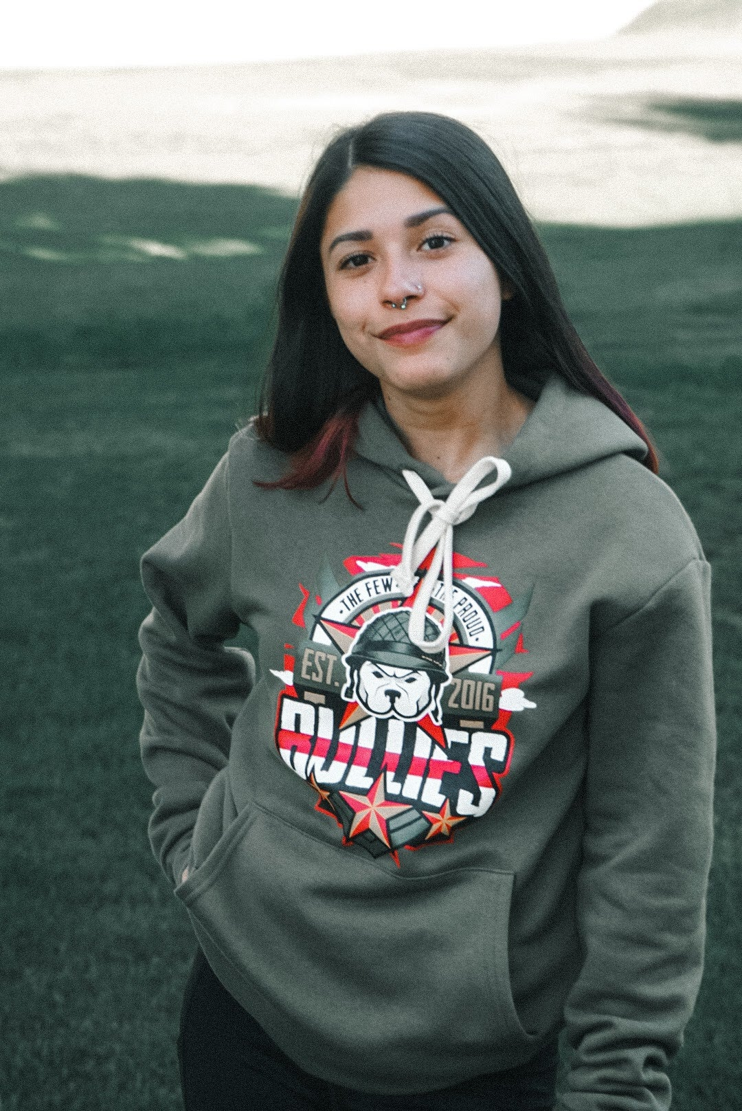 Image of The Few The Proud (Mil. Green) HOODIE