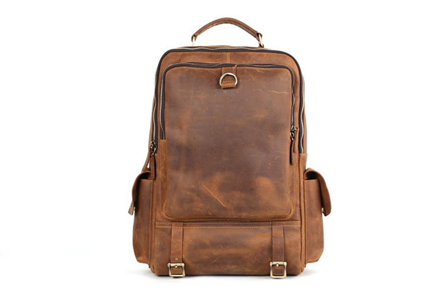 Image of Handmade Vintage Leather Backpack, Travel Backpack, Hiking Backpack, Laptop Backpack M398