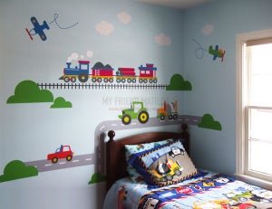 Image of Complete Transportation Vehicles Wall Decal