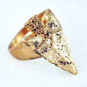 Image of Spearhead Ring bronze