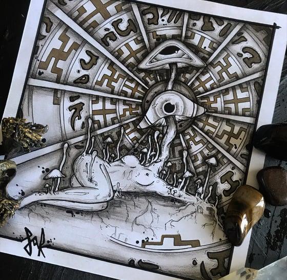 Image of Mycelium Melody- original and prints