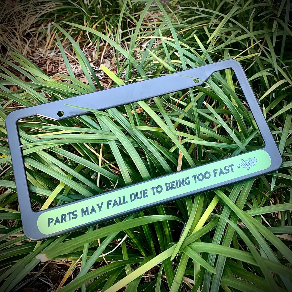 Image of PARTS MAY FALL PLATE FRAME