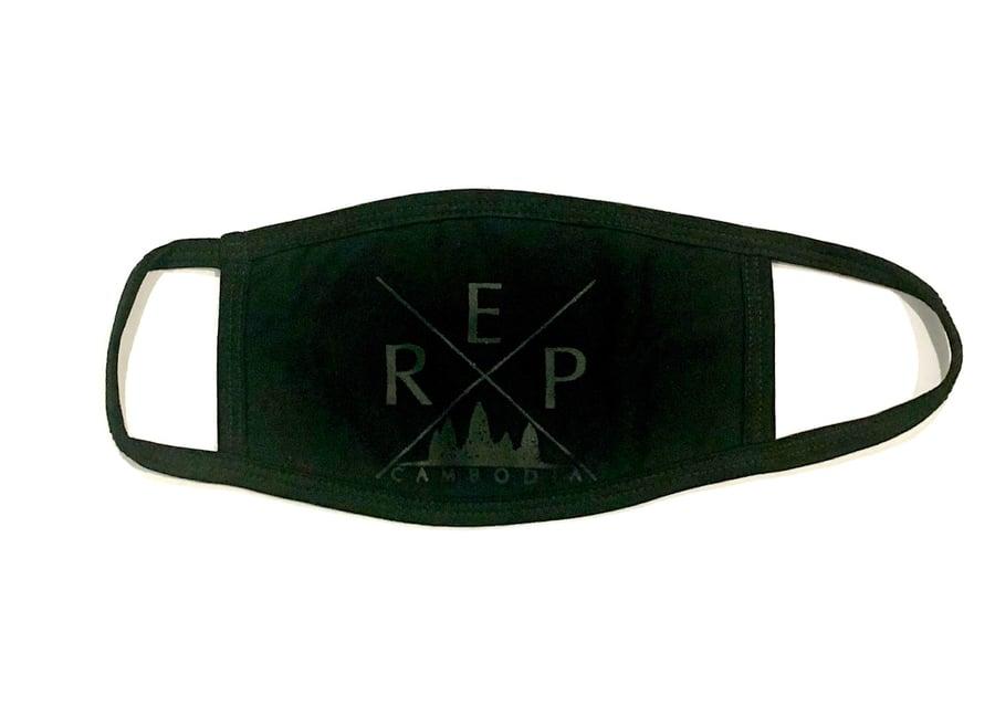 Image of RepCambodia Black on Black Mask