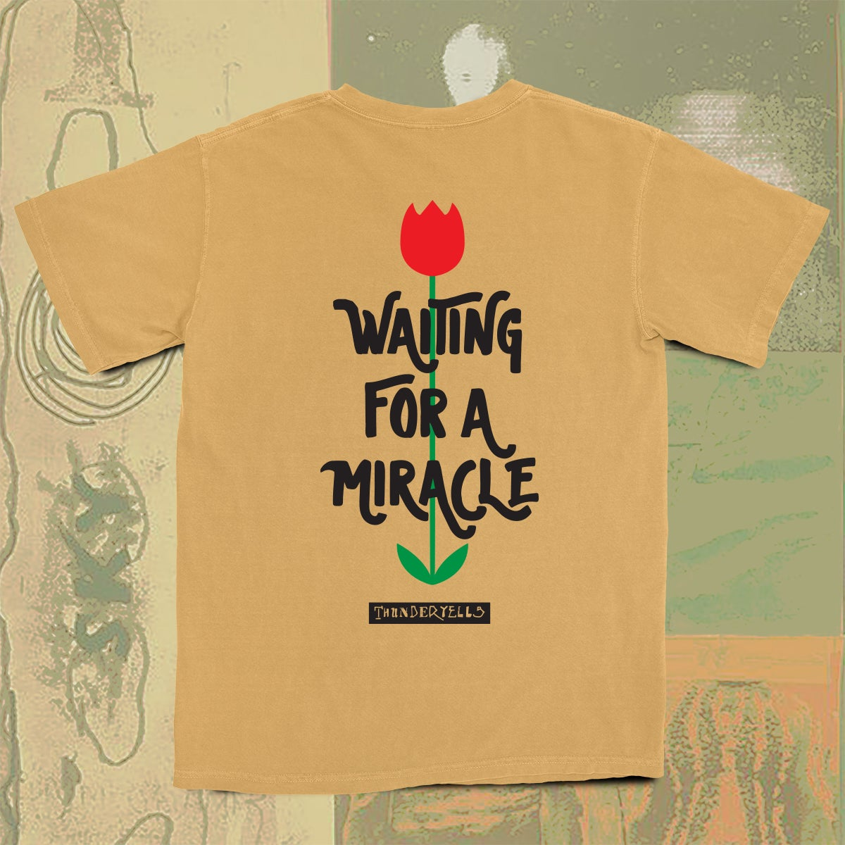Image of Waiting For A Miracle Tee - Monarch