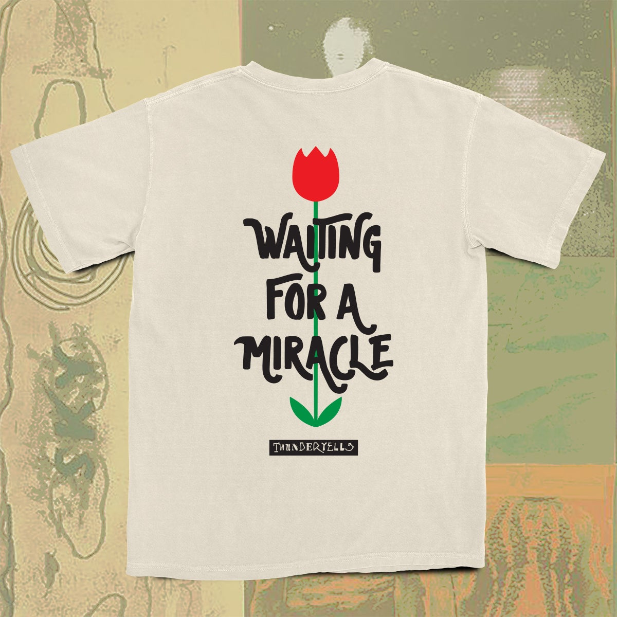 Image of Waiting For A Miracle Tee - Ivory